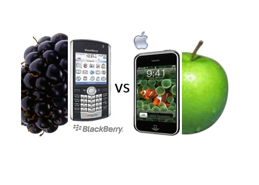 Blackberry Versus iPhone